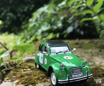 2CV Green miniature - Marguerite