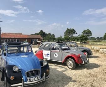 Rallye  à Arcachon en 2 CV